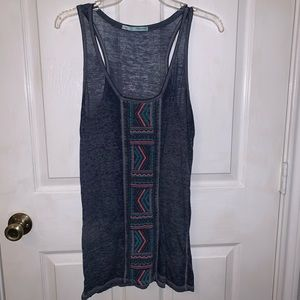 Sheer navy blue summer tank